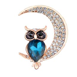wholesale rhinestone brooches Australia - 2019 Hot Exquisite Fashion Crystal Rhinestone Animal Brooch Pins Lovely Owl Brooches Jewelry Best Gift for Women