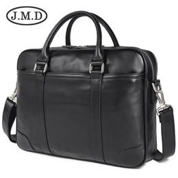 Genuine Leather Handles Australia - JMD Genuine Leather Laptop Bag Top Handle Bag Men's Handbag For Buisness 7349
