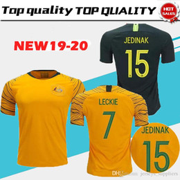 4ab9bff8f world cup 2018 Australia soccer jersey home yellow away green 18 19 JEDINAK  LECKIE MILLIGAN CAHILL football shirts top quality cstomize
