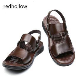 $enCountryForm.capitalKeyWord Australia - 2018 Men Fashion Sandals Men's Slippers Leather Shoes Summer Beach Sandals Casual Soft Men Shoes Flip-Flops Zapatos Big Size 47 #57080