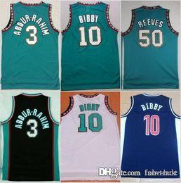 9d4a8ac30 Memphis New 50 Bryant Reeves Grizzlies Basketball Jersey Men 10 Michael  Mike Bibby 3 Shareef Abdur-Rahim Abdur Rahim Vintage Green Black