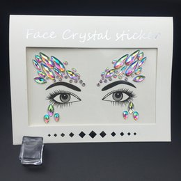 lip gems NZ - Strass Shine Temporary Tattoos Stickers Face Jewelry Gems Use For Party Festival Makeup Jewelry Body Flash Fake Temporary Tattoo T190711