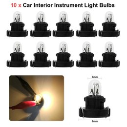 Acura Autos Australia - 10pcs T3 LED 12V 1.2W Car Auto Interior Instrument Light Bulbs Dashboard Lamps For Honda For Alpha Car Instrument Lights