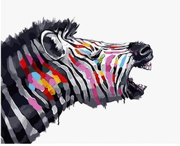 "$enCountryForm.capitalKeyWord UK - Kits Paint DIY Painting By Numbers Oil Paint Adult Hand Painted-Painted zebra 16""x20"""