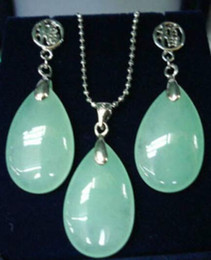 $enCountryForm.capitalKeyWord Australia - wholesale good Beautiful purple gem stone earrings pendant necklace set silver Jewelry silver-jewelry