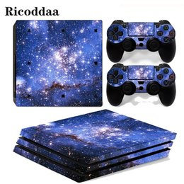Sony playStation conSole online shopping - Sky Stars For Ps4 Pro Sticker Cover Wrap Console Controller Skin Decal For Sony Playstation Pro Game Accessories T6190615