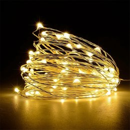 Wholesale LED String Lights M LED V USB Powered Outdoor Copper Wire Christmas Festival Wedding Party Decoration