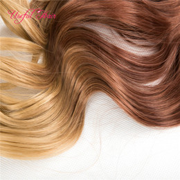clip hair braids Australia - Clips in hair extensions brown blonde highlights mixed color 2020 braiding synthetic straight hair 250gram synthetic braiding hair clips