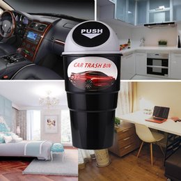 GarbaGe case online shopping - Mini Vehicle Auto Car Garbage Dust Case Holder Box Bin Trash Rubbish Can Capacity ml