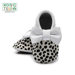 Moccasins For Toddlers Australia - Fashion Baby Girl Baby Boy Leopard Shoes Genuine Leather Bow Fringe Moccasins Infant Prewalker Toddler Shoes for Girl