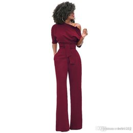 818cacca25 New Fashion Off the Shoulder Elegant Jumpsuits Women Plus Size Rompers  Womens Jumpsuits Short Sleeve Female Overalls