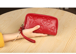 $enCountryForm.capitalKeyWord Australia - Genuine leather clutch purse real leather fashion woman zipper clutch bag coin clutch bag woman zipper wallet good quality Factory products