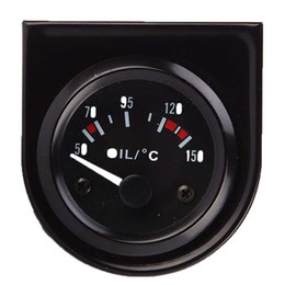 12V Car Racing 52mm Black Single Oil Thermometer Gauge on Sale
