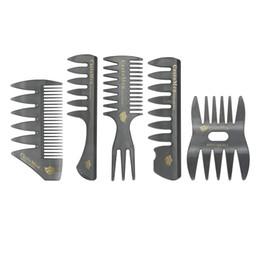 $enCountryForm.capitalKeyWord Australia - Plastic Large Tooth Detangling Brush Wide Teeth Comb Head Styling Beard Comb Hair Styling For Men Hairdressing