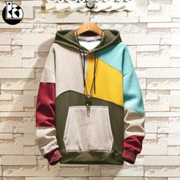63364d204229 Spring And Autumn Fashion New Hooded Large Size Long Sleeve Sweatshirt Men  Daily Casual Trend Brand Color Matching Mens Hoodies