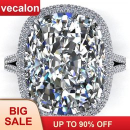 $enCountryForm.capitalKeyWord Australia - Vecalon 2019 Big Promise Ring 925 Sterling Silver Cushion Cut 8ct Zircon Cz Engagement Wedding Band Rings For Women Men Jewelry J190625