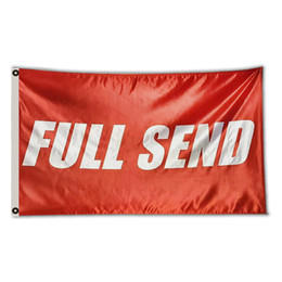 Sign flagS online shopping - Full Send Banner Flag Nelk Nelkboys for The Boys College Dorm Party Hang Sign Red