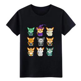 $enCountryForm.capitalKeyWord Australia - Corgi Corgi Monsters Cute Halloween Shirt t shirt Knitted cotton size S-3xl Vintage Crazy Building Summer Style Family shirt