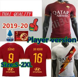 Quality player online shopping - Player version AS roma soccer jersey thailand quality DZEKO TOTTI De Rossi PASTORE rome Camisetas football Shirt uniforms