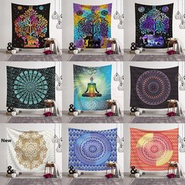 woven cotton blankets UK - 14styles Mandala 3D Printing Blanket Tapestry INS Household art Fit Wall Tapestry Fashion Child Beach Towel home decor 130*150CM FFA2915