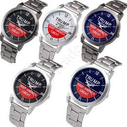 Suit watch online shopping - Trendy Trump Wrist Watches Quartz Wristwatch Keep America Great Mens Alloy Stainless Watch Band Luxury Retro Unisex Watches C91707