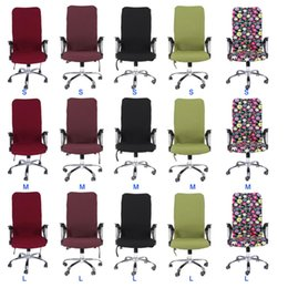 swivel chair stool Australia - S M L Spandex Office Chair Covers Slipcover Armrest Cover Computer Seat Cover Stool Swivel Chair Elastic Antimacassar Seat