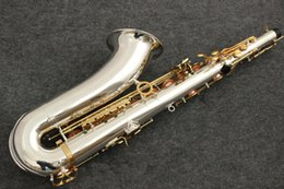 BB tenor saxophone online shopping - New Tenor Saxophone yanagisawa T Musical Instruments Bb Tone Nickel Silver Plated Tube Gold Key Sax With Case Mouthpiece