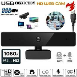 webcam Canada - T6S web camera 1080P HD Megapixels USB2.0 Webcam Camera with MIC Clip-on for Computer PC Laptop 30fps Auto Focus
