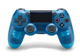 Wireless Ps2 Controllers Australia - Transparent Wireless Ps 4 Gamepad Bluetooth Controller For PS 4 Dual Vibration Joystick Gamepad Game Controllers With ePacket