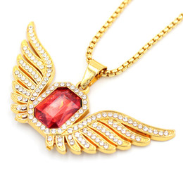 $enCountryForm.capitalKeyWord Australia - Hip Hop Angle Wing Necklace Women Men Bling Bling Full Gemstone Pendant Environmental Zinc Alloy Hiphop Statement Necklace Jewelry Gifts