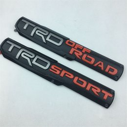 Groihandel Car Styling 30.5 * 5.5cm ABS Plastik TRD SPORT TRD OFF ROAD Emblem Koffer Badge Seiten Logos Autos Körper Aufkleber