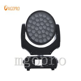 moving heads lights price 2019 - Romantic Warm 37x10w moving head wash led wedding light factory price with high quality stage light manufacture