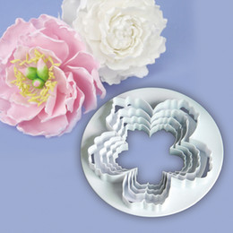 $enCountryForm.capitalKeyWord Australia - New 4pcs Sugarcraft Peony Set plastic fondant cutter cake mold fondant mold fondant cake decorating tools sugar craft bakeware
