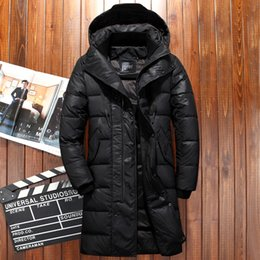 White extra long coat online shopping - degree Russia winter jacket for men extra thick wind breaker long coat men camouflage men s white duck down jacket snow coat S191019