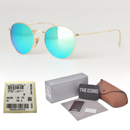 $enCountryForm.capitalKeyWord Australia - Wholesale-High quality Mens Womens Sunglasses Brand Designer Glass Lens Round sun glasses uv400 Goggle With free Case and label