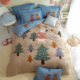Brushed cotton Bedding set online shopping - Single Cartoon children Adult Bedding Set Twin Queen King Size Brushed Cotton Printed Dorm Apartments House Textiles