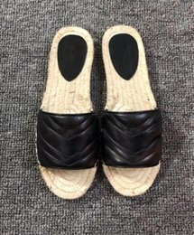 $enCountryForm.capitalKeyWord Australia - New summer fashion female slippers Ms. h leather Summer thick bottom flat indoor slippers Home Furnishing outdoor wear shoes