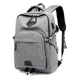 7d588da2b85d Casual Women Men Backpack School Bags For Teenagers Canvas Usb Charge  Laptop Backpacks Travel Backpack Mochila Back Pack Bag