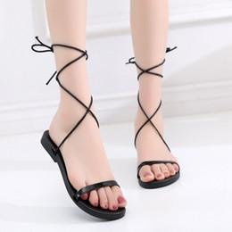 $enCountryForm.capitalKeyWord Australia - Hot Sale-Sexy2019 Bandage Crossing Sandals Ma'am Will Leisure Time Soft Bottom Women's Shoes 40-42 Code 1873