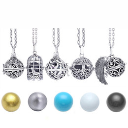 ball pregnant Australia - 2020 Music Angel Ball Caller Locket Necklace Vintage Pregnancy Necklace for Essential Pregnant Women