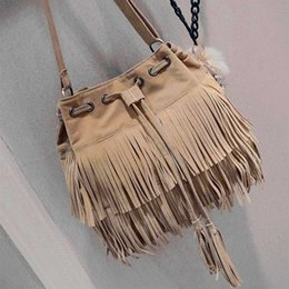 $enCountryForm.capitalKeyWord Australia - Fashion Retro Faux Suede Fringe Women Messenger Bags Tote New Handbag Tassel Shoulder Handbags Crossbody Bag Bolsa Feminina
