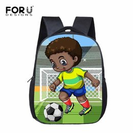 AfricAn AmericAn creAm online shopping - FORUDESIGNS Art African American Boys Student Kids School Bags Small Magic Kindergarten Bookbags Stylish Children Backpacks