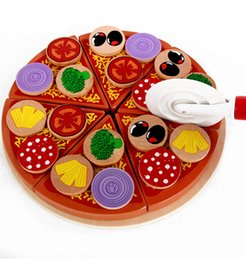 kitchen role Australia - Child Pretend Role Play Pizza Wooden Toys Food Cooking Simulation Tableware Kitchen Pretend Classic Kids Educational Toys M840#