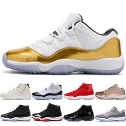 a9929b0f38ed5d 11 11s Platinum Tint Men Basketball Shoes Cap and Gown Prom Night Gym Red  Bred Barons High Concord 45 Cool Grey mens sports sneakers designe