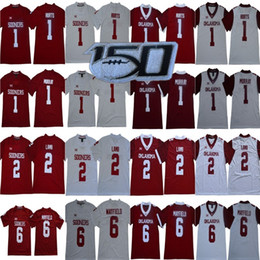Chinese  2020 Oklahoma Sooners Jalen Hurts Jersey 2 CeeDee Lamb New #1 Kyler Murray #6 Baker Mayfield Red White Men Youth Kid NCAA 150TH manufacturers