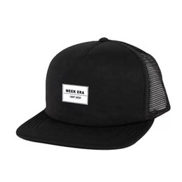quality black blank hats Australia - Wholesale Amazon High Quality 100 Polyester Hip-hop Hats Blank Plain Mesh Trucker Caps Official Snapback Hat With Low MOQ