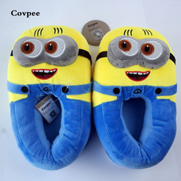 Wood Animal Figured Toys NZ - 3D minions slippers woman Winter Warm slippers Despicable Minion Stewart Figure Shoes Plush Toy Home Slipper One Size Doll #8397