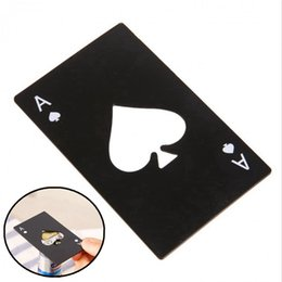 Eco crEdit card online shopping - Poker Card Bottle Opener Stainless Steel Creative Beer Openers Credit Card Bottle Opener Home Kitchen Tools HHAA657