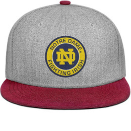 Fighting Australia - Notre Dame Fighting Irish Round Logo burgundy mens and women snap back,flat brimcap baseball design custom plain Hip Hop hats