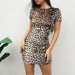 1c2a00f062a Womens Dress 2019 Summer New Sexy Leopard Short Skirt Nightclub Style Tight  Short Skirt Fashion Skinny Shiny Print Skirts